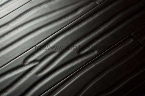 Carbonized Horizontal Handscrapped Wallnut Bamboo Flooring